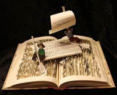 The Adventures of Tom Sawyer book scultpure