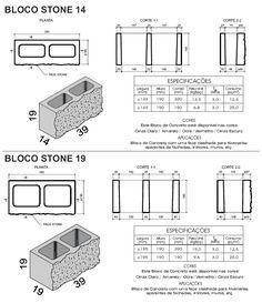tijolos de concreto - Pesquisa Google                                                                                                                                                                                 Más