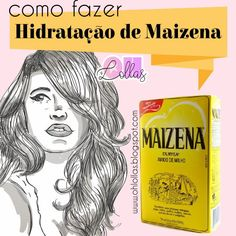 Como fazer hidratação de maizena no cabelo Beauty Care, Beauty Makeup, Beauty Hacks, Hair Beauty, Face Hair, My Hair, Curly Hair Styles, Natural Hair Styles, Hair 2018