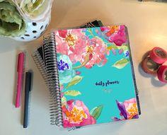 Erin Condren Cover Design // Navy Buds by GoldenPetalDesigns Happy Planner Cover, Cute Planner, Planner Covers, Planner Ideas, Journal Design, Erin Condren Life Planner, Cover Design, Creations, Stationery
