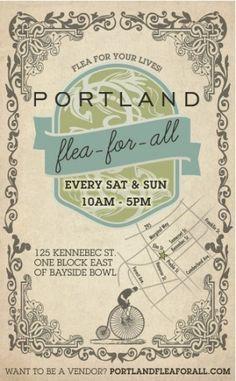 Poster for the Portland Flea-For-All   by Kip Lyall (http://kiplyall.com)