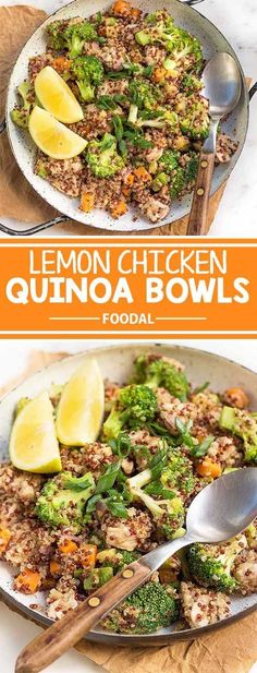 If you�re trying to curb your between-meals snacking habit, you need to make sure that you�re eating protein-rich food. This recipe for lemon chicken quinoa bowls is packed with protein to keep your tummy satisfied for longer, and give you the energy you