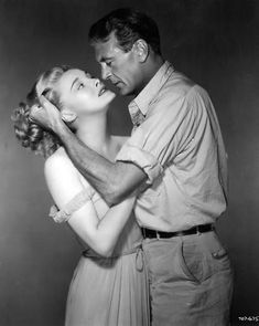 Gary Cooper and Patricia Neal, publicity shot for The Fountainhead (King Vidor, 1949)