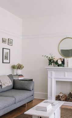 Bring together a neutral room. ANTON sofa. Gravel Gray.   Photo by Gillian Stevens.