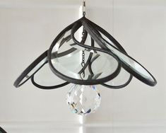 Teardrop Spinning Suncatcher with Crystal Ball by OriskanyGlass, $59.00 Incredible