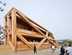 """Architecture: Fire Island Pines Pavilion by HWKN: """"..new york firmHWKNhas given a new vitality to afire island nightlife mainstaywith their newly unveiled design for the iconicfire island pines pavilion. after a 2011 fire ravaged thelegendary social hotspot, owners saw fit to revitalize the energetic social hub into aconsidered extension of the boardwalk and reframed nexus of the gay community.."""