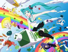The song Po Pi Po of hatsune miku Hatsune Miku, Kaito, Juice Song, Otaku, Kagamine Rin And Len, Miku Chan, Mikuo, Lesbian Love, Best Waifu