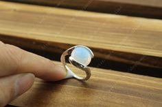 Gemstone Moonstone ring fashion jewelry  gift for by pandoraalina, $4.50
