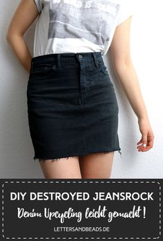 a13e8b86a765a9 #upcycling #recycling #denim #jeans #hose #rock #distressed #destroyed