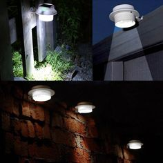 Amazon.com : 4 Pack WSMY Solar Lights Outdoor Solar Powered Lamp Waterproof  Roof Lights