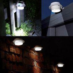 Amazon.com : 4 Pack WSMY Solar Lights Outdoor Solar Powered Lamp Waterproof  Roof Lights