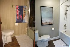 dramatic bathroom makeover