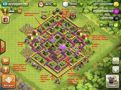 level 7 town hall hybrid base - Google Search