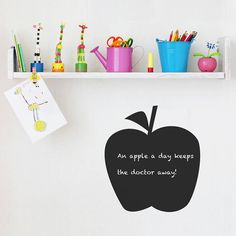apple chalkboard wall sticker by spin collective | notonthehighstreet.com