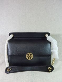 cae29ce25276 NWT Tory Burch Black Chelsea Flap Shoulder Bag -  458  ToryBurch   ShoulderBag Black Pebbles