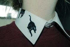 kitty collared shirt <3
