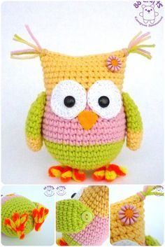 Mesmerizing Crochet an Amigurumi Rabbit Ideas. Lovely Crochet an Amigurumi Rabbit Ideas. Crochet Owls, Crochet Amigurumi Free Patterns, Crochet Stitches Patterns, Cute Crochet, Crochet Mignon, Confection Au Crochet, Crochet Baby Cocoon, Owl Patterns, Crochet Projects