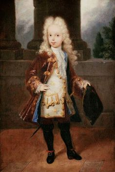 Attr. to Michel-Ange Houasse -Portrait of a young... | History of fashion in art & photo