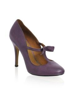 lavender t-bar heel with bow