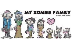 adesivo para carro zombie family