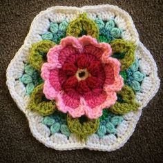 Ravelry: Project Gallery for Frida's Flowers Blanket pattern by Jane Crowfoot