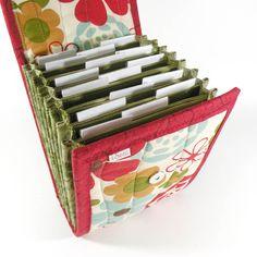 Circular Needle Case - Autumn Daisy - Needle Holder Needle Wallet Circular Needle Organizer Red Brown Floral