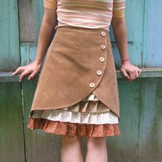 against the grain ruffle front would be fun to #skirt tutorial #handmade skirt #DIY Skirts #skirt scaft