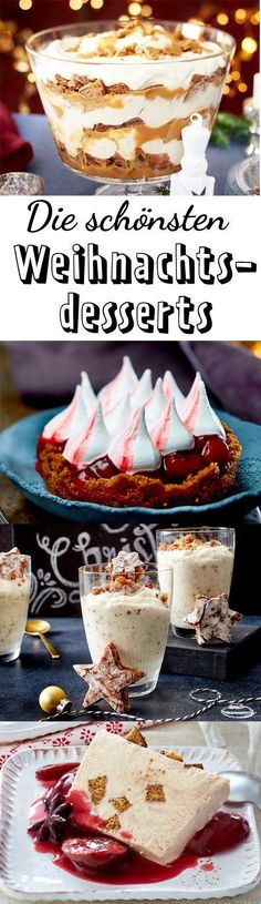 Christmas desserts - heavenly recipes for the feast- Weihnachtsdesserts – himmlische Rezepte fürs Fest The best dessert ideas for Christmas! Easy Smoothie Recipes, Snack Recipes, Dessert Recipes, Snacks, Fall Desserts, Christmas Desserts, Delicious Desserts, Christmas Christmas, Christmas Recipes