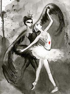 Ballet The Black Swan Swan Lake Ballet, Ballet Art, Ballet Style, Dance Ballet, White Swan, Dark Swan, Black White, Ballet Photography, Dark Art
