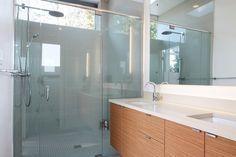 Minimalist bathroom cabinets.