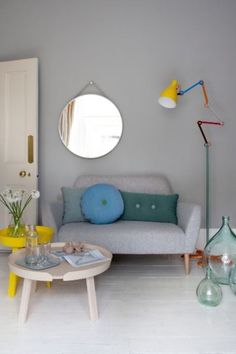 Pops of white & color www.twosistershome.com