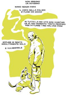 """""""Io lo so che non sono solo   anche quando sono solo;   io lo so che non sono solo   e rido e piango   e mi fondo con il cielo e con il fango""""  #elezioni2013 #polizia #benedetto XVI #ratzinger #crisi #ammazzamenti  #rubare  #candidare #solipsismo  #cane  #sigaretta  #fumo #padrone #schiavo #progetto  #vulnerabilità #fragilità  #vignetta  #vignette  #fumetto #fumetti #comics #illustration #lol #giallo #nero"""