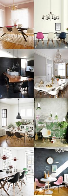 Eames Chairs Dining Rooms diy home decor,diy,diy crafts,diy room decor,diy headboard Eames Dining Chair, Dining Room Chairs, Dining Rooms, Office Chairs, Dining Room Inspiration, Interior Design Inspiration, My New Room, Decoration, Home And Living