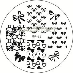 New Pattern Bowknot Nail Art Stamping Template Image Plate BORN PRETTY BP62