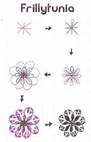 Life Imitates Doodles: My tangle patterns: Frillytunia