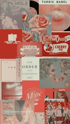 Read Collage Aesthetic from the story 𝐀𝐞𝐬𝐭𝐡𝐞𝐭𝐢𝐜 ⸙[✨] ✓ by naticaro__ (W A R) with reads. Red Wallpaper, Iphone Background Wallpaper, Tumblr Wallpaper, Aesthetic Collage, Red Aesthetic, Aesthetic Vintage, Collage Background, Wall Collage, Aesthetic Pastel Wallpaper
