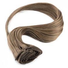 Clip-in hairextensions - Natuurlijk stijl haar - Licht bruin 38cm