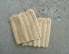Domestic Bliss Squared: Boot Cuffs Crochet Pattern…free! - Click for More...