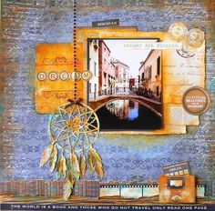Kaisercraft Products Used: 'Story Book Collection' Dream- layout-march challenge-adriana bolzon Travel Scrapbook, Scrapbook Albums, Scrapbooking Layouts, Beautiful Moments, One Pic, Cardmaking, Dream Catcher, My Design, Challenges