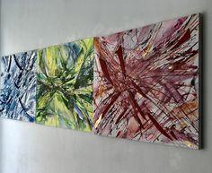 Particelle in movimento di Raffaella Losapio, Studio.ra - cm 70x 300 painting on canvas, word