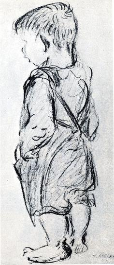 Heinrich Zille,  kleiner Junge