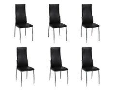 6 Esszimmerstühle Essgruppe Stuhlgruppe Sitzgruppe Küchen Stuhl Stühle schwarz von vidaXL, http://www.amazon.de/dp/B009WOOD12/ref=cm_sw_r_pi_dp_jWzPsb1GCPY8V
