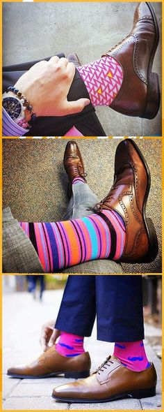 New Men Formal Socks 3 Pack Different Colours Ideal Casual Menswear Dress Socks