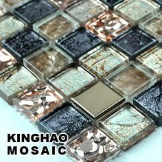 [KINGHAO] Supply Mosaic Wholesale Glass mosaic Wall tile K00035-in Mosaics from Home Improvement on Aliexpress.com Mosaic Wall Tiles, Mosaic Glass, Tile Flooring, Floors, Home Design Decor, House Design, Stone Kitchen Island, Rock Tile, Mosaic Supplies