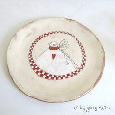#christmas plate - handmade ceramic by Giosy Matteu #pottery