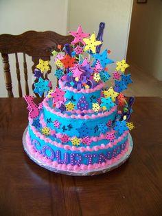 Pop star birthday cake idea