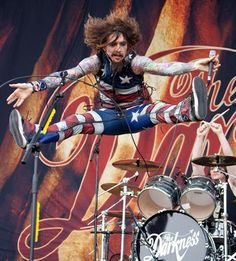 """Justin Hawkins - frontman lead singer, guitarist and keyboardist for the Darkness, British seventies rock revivalists that had enormous success with their debut album, """"Permission To Land"""" in 2003."""
