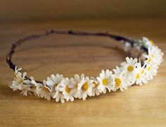 Sweet Daisy Head Crown by ThreeLittleBirds1222 on Etsy