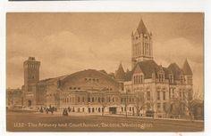 The Armory and Court House Courthouse Tacoma Vintage Washington WA Postcard | eBay