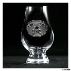 Skull and Bones Personalized Glencairn Scotch Glas Whiskey Glasses